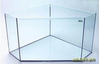 Аквариум угловой из стекла